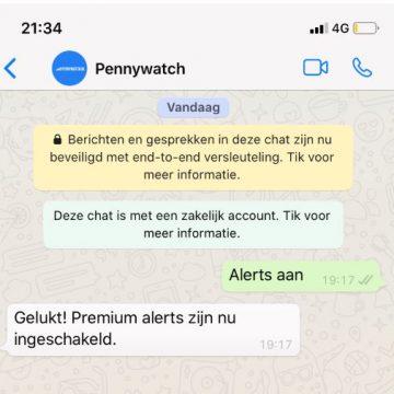Nieuw: Whatsapp alerts nu beschikbaar!