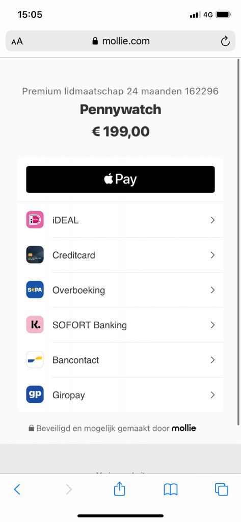 Apple Pay nu beschikbaar op Pennywatch