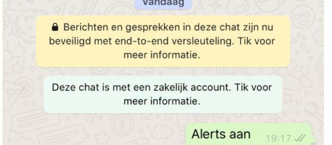 whatsapp alerts beleggen